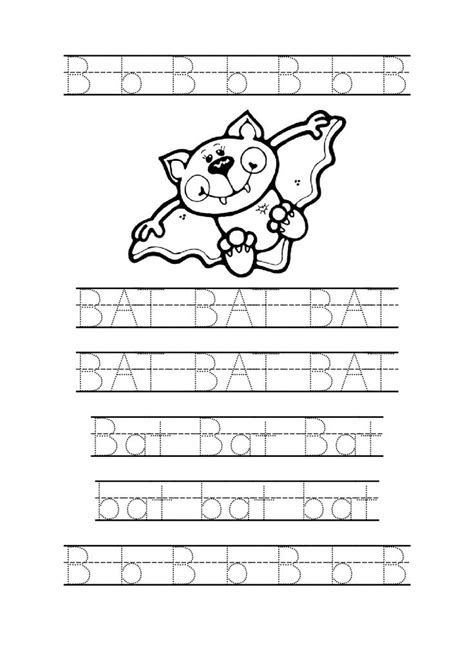 tracing bat worksheets for preschool bat coloring page printable worksheets kindergarten