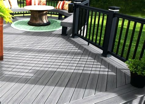 grey stained deck decking with grey stained deck fence
