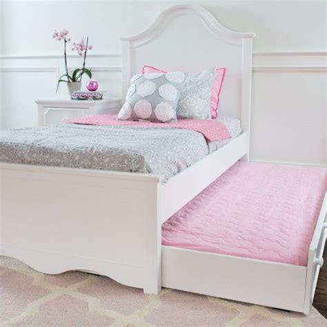 sydney pink white bedroom girls trundle bed