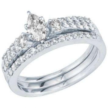 helzberg diamonds white golddiamond stunning marquis