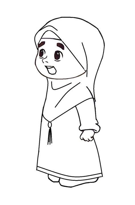 gambar anime muslim hitam putih cara melukis gambar kartun comel sobponsel