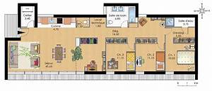 plan de maison plein pied With plan de maison bioclimatique