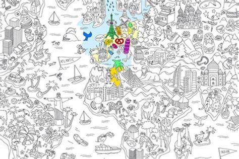Carte Du Monde à Colorier Omy by Id 233 E Cadeau Du Jour Une Carte Du Monde G 233 Ante 224 Colorier