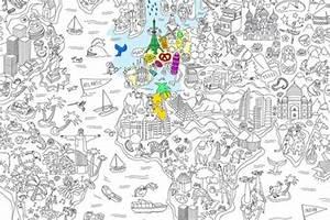 Tapisserie Carte Du Monde : carte du monde coloriage carte du monde ~ Teatrodelosmanantiales.com Idées de Décoration