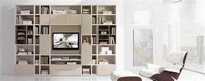 Bibliothèque Moderne Design : astuce d co biblioth que moderne astuces bricolage ~ Teatrodelosmanantiales.com Idées de Décoration