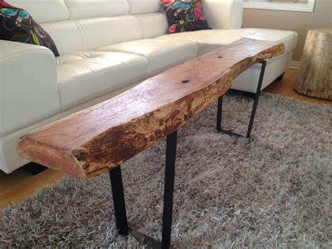 This is where the tables started, slices from a fallen tree in our yard. Live Edge Table with hairpin legs, Live Edge Coffee table ...