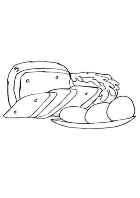 ausmalbilder eier und brot speisen und essen malvorlagen
