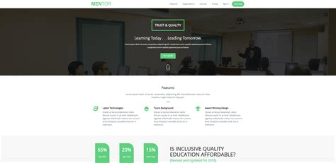 Free Bootstrap Templates 2017 30 Best Free Bootstrap Education Templates 2017 Xoothemes