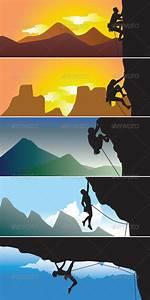 Rock Climbing Silhoutte | Sports activities