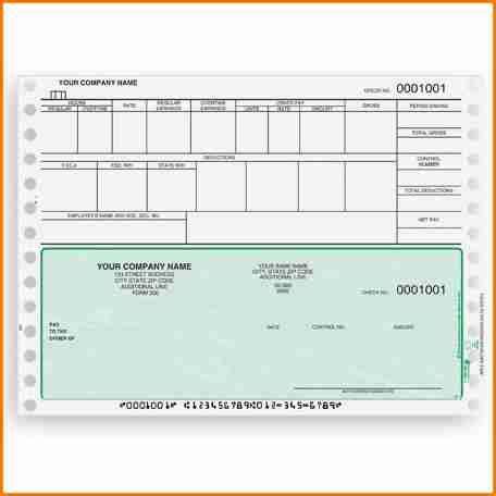 payroll checks templates  simple salary slip