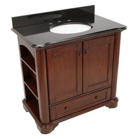 home depot bathroom sink tops pegasus vermont 36 in vanity in mahogany with granite