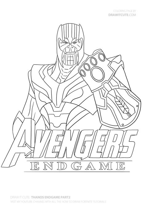 how to draw thanos step by step guide with coloring page