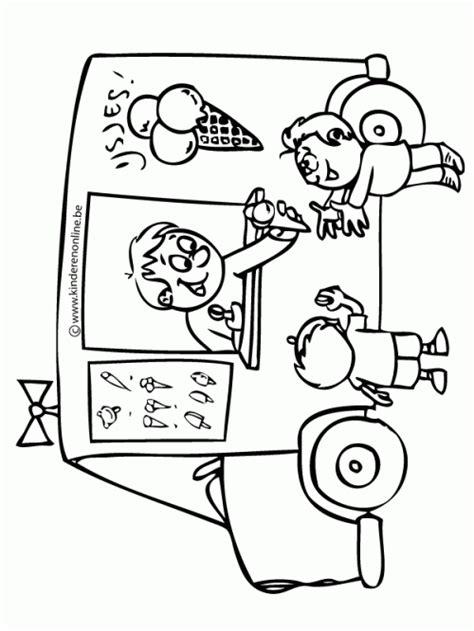 Kleurplaat Ijscokraam by Kleurplaat Thema Zomer Kleuters Theme Summer Preschool