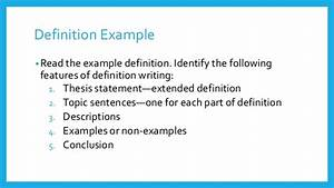 thesis definition and examples