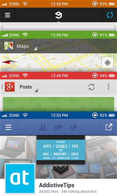 android status bar color get ios status bar notification center banners on