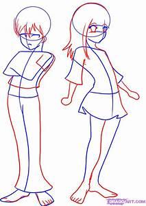 Anime Girl Body Outline - Cliparts.co