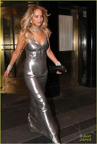 Jennifer Lawrence Silver Dress