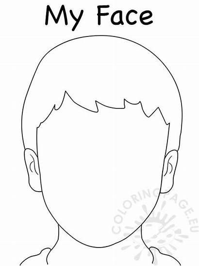 Face Coloring Drawing Blank Outline Template Pages