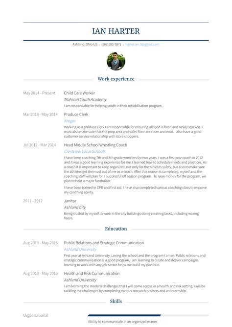 Child Care Worker Resume by Child Care Worker Resume Sles Templates Visualcv