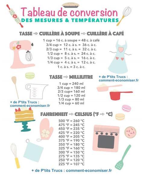 table de conversion cuisine comment convertir les cups en grammes dans les recettes