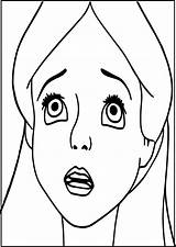 Sad Coloring Face Getcolorings Printable Pa Excellent sketch template