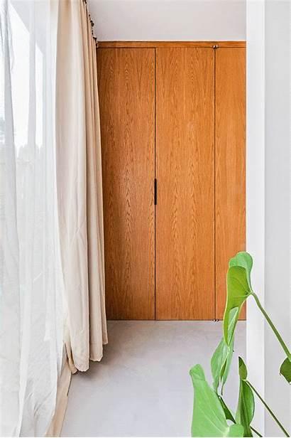 Floors Closet Concrete Closets Bed Wall Behind
