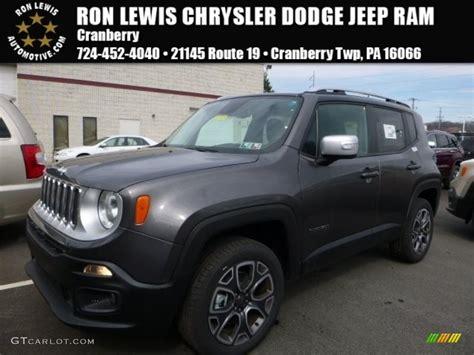2016 granite metallic jeep renegade limited 4x4
