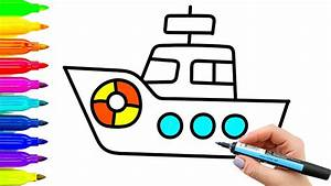 Baby Ship Coloring Pages and Drawing | Videos for Kids ...