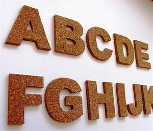3d cork self adhesive letters wall decor cork alphabet With adhesive letters for wall