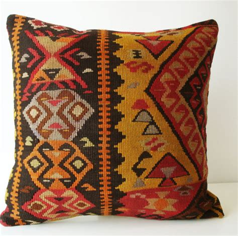 etsy pillow covers sukan woven turkish antique kilim pillow cover