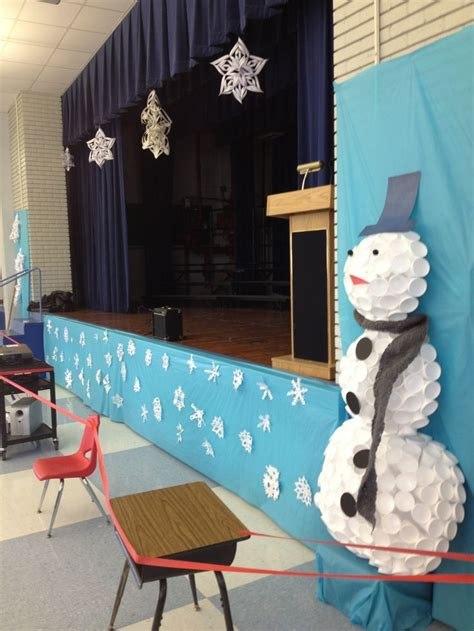 christmas decorations for school 34 best school stage ideas images on ideas and program