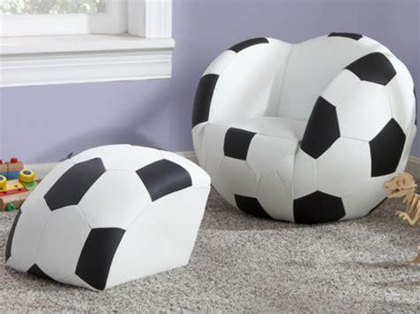 fauteuil de bureau sport fauteuil et pouf pour enfant en simili footy noir et blanc