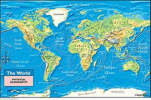 World Physical Geography Map By Maps Com From Maps Com