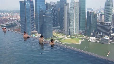 marina bay sands rooftop infinity pool singapore youtube