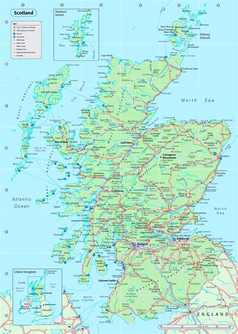 printable map  scotland  travel information