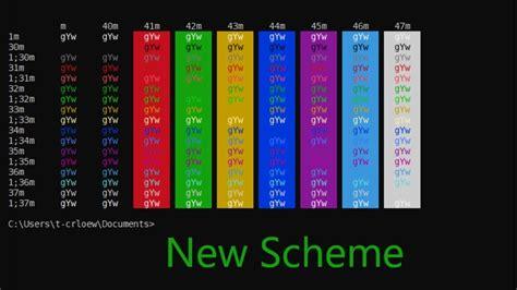 windows color scheme microsoft changes windows cmd color scheme after 20 years