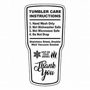 Tumbler Care Cards  Pack Of 25   U2013 Makerflo Crafts
