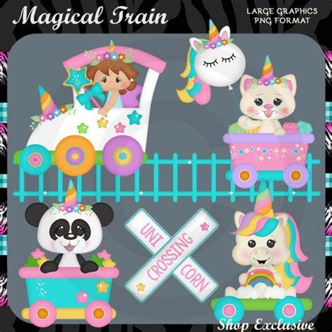magical spring train  unicorn panda kitten fairy