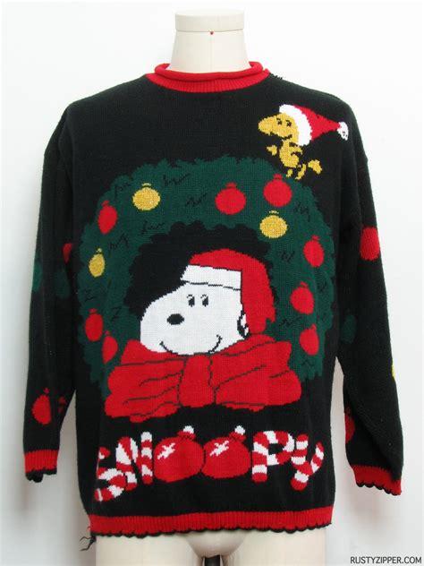 snoopy sweater vintage 1980 39 s vintage sweater 80s
