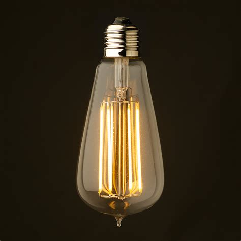 edison light bulb 6 watt dimmable lantern filament led e27 clear edison
