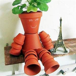 Pot De Fleur En Terre Cuite : bonhomme en pots de fleur activt s avec les enfants ~ Dailycaller-alerts.com Idées de Décoration