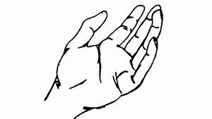 How to draw open hand - YouTube