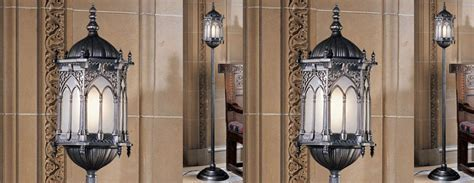 Aberdeen Manor Gothic Lantern Floor Lamp   The Green Head