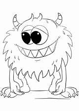 Monster Coloring Cartoon Supercoloring Printable Via sketch template