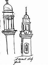 Minaret Clipart Short Clipground Drawing Islamic sketch template