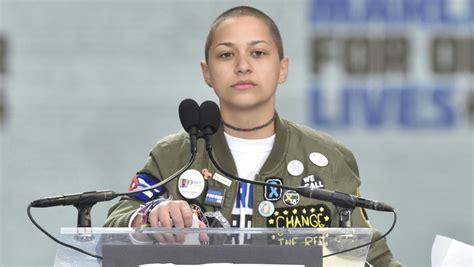 emma gonzalez stands  silence  powerful march