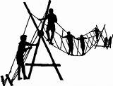 Clipart Ropes Bridge Clip Rope Pioneering Scout Boy Monkey Building Team Scouting Scouts Projects Camp Cliparts Course Sea Library Clipground sketch template