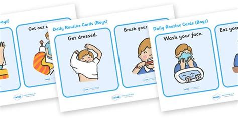 chore chart  home routine cards daily routine