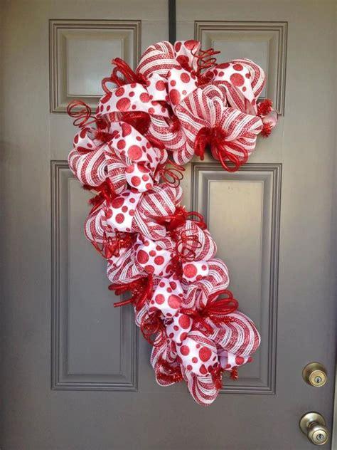 candy cane wreath christmas wreath peppermint wreath red white stripe wreath christmas