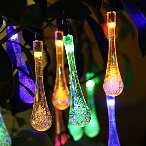 Ivso Solar Outdoor String Fairy Lights, 20ft 30 Leds Water